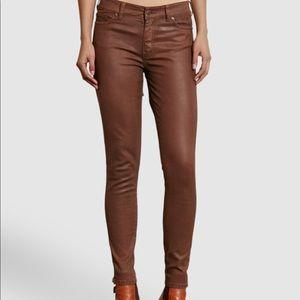 Nwts Ralph Lauren Brown Wax Coates Jeans Size 4